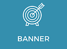 Banner i PVC med maljer for oppheng